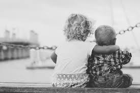 child hug