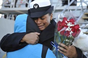military hug